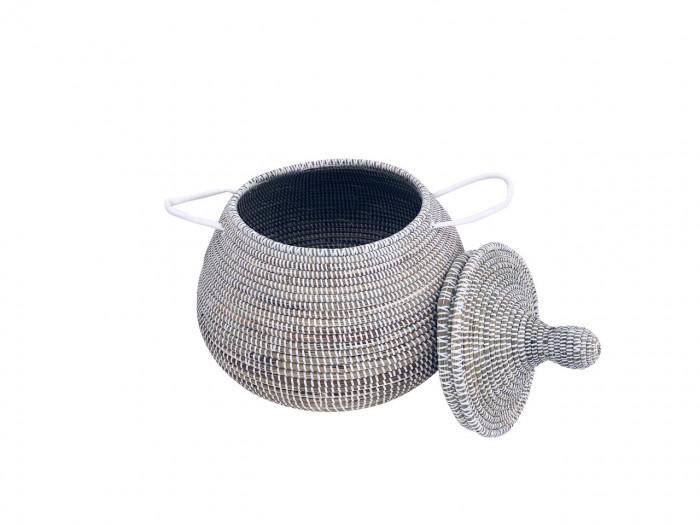 Doum – Small size basket white