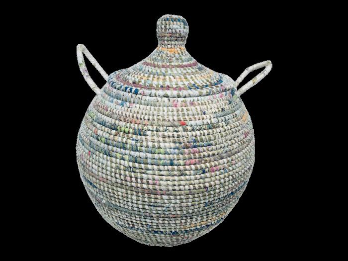 Doum Afripe – Corbeille grand modèle multicolore