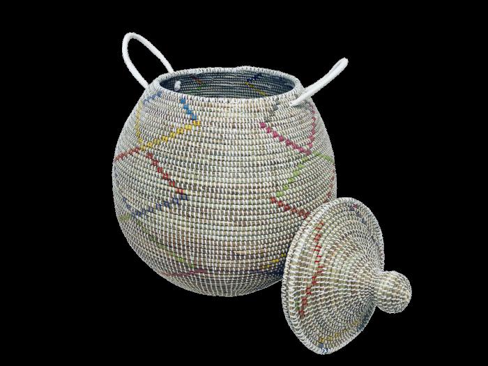Doum Edouard – Corbeille grand modèle multicolore